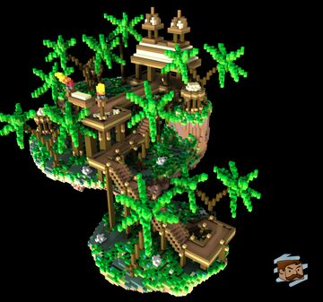 Floating Tropical Skyblock Spawn [100x100] Minecraft Map & Project