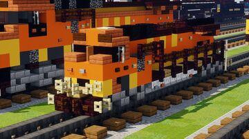 BNSF GE C44-9W Locomotive 1:1 Scale Minecraft Map & Project