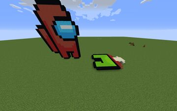 Among us Red Killing Lime Minecraft Map & Project