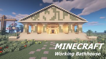 Roman Bathhouse (working steam and bubbles) Minecraft Map & Project
