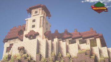 Plateau Romanesque House [Build Time-lapse] Minecraft Map & Project