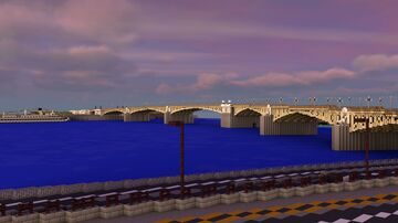 BTE Project - Margaret Bridge, Budapest Minecraft Map & Project