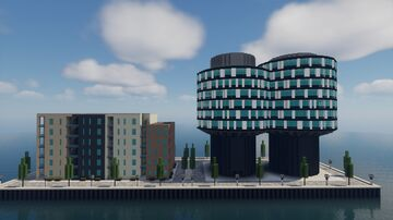 Portland Towers Copenhagen - Rebuilt in MC Minecraft Map & Project