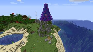 Wizard Tower of the Dark Oak Woods Minecraft Map & Project