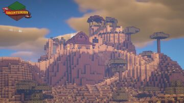 Moroccan Inspired Plateau Compound House Minecraft Map & Project