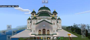Church of St. Sava, Belgrade, Serbia Minecraft Map & Project
