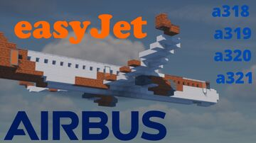 Airbus a320 easy jet family [1:1] Minecraft Map & Project
