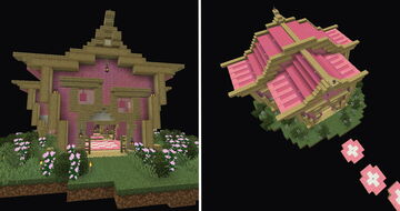 minecraft houses easy pink