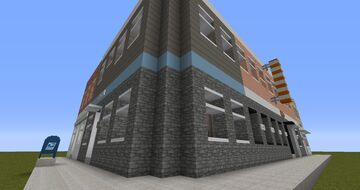 Realistic Row of Shops Minecraft Map & Project