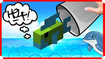 How To Catch Tropical Fish & Dolphins Easily Minecraft Map & Project