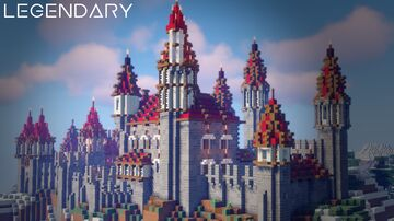 Epic medieval castle Minecraft Map & Project