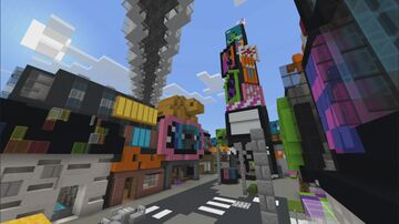 Inkopolis Square from Splatoon 2 Minecraft Map & Project