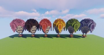 Hot Air Balloon Kit Minecraft Map & Project