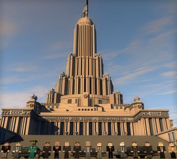 Palace of Soviets /USSR, Moscow Minecraft Map & Project