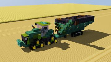 John Deere Tractor with Unverferth Grain Cart Minecraft Map & Project