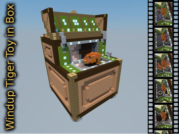 Windup Tiger in Box (A redstone powered play/music-box of old) Minecraft Map & Project