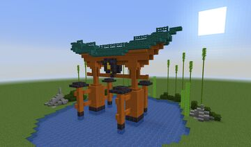 Large Japanese Torii Gate Minecraft Map & Project