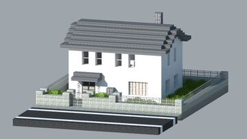 Japanese Town House Minecraft Map & Project