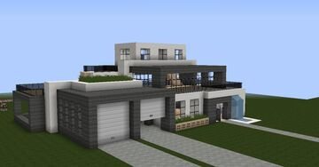 Modernes Haus | Modern House Minecraft Map & Project