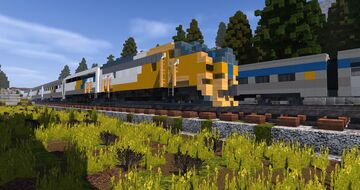 EMD F7 - FP7   TRS Minecraft Map & Project