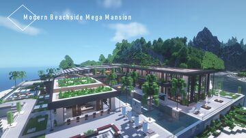 Modern Beachside Mega Mansion Minecraft Map & Project