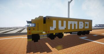 1.75:1 Scale Euro Scania JUMBO Supermarket truck and trailer Minecraft Map & Project
