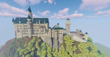 Schloss Neuschwanstein Recreaded in Minecraft Minecraft Map & Project