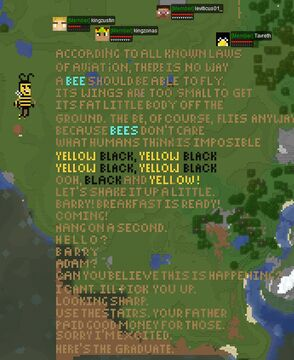 We built the bee movie script on a factions server Minecraft Map & Project