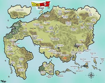 DragonBall Z Earth map 10k x 10k free download Minecraft Map & Project