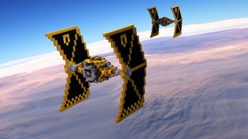 Star Wars - Mining Guild TIE Fighter Minecraft Map & Project