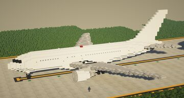 Boeing 767-200 1.5:1 Scale Minecraft Map & Project