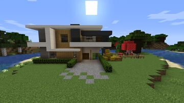 Modern House With Mooshrooms and Cows | BY _TheChosenOne_ Minecraft Map & Project
