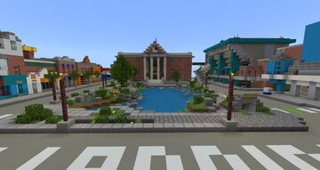 BACK TO THE FUTURE 2 - HILL VALLEY - ENTIRE TOWN SQUARE! Minecraft Map & Project