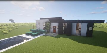 Suburban House with a pool Minecraft Map & Project