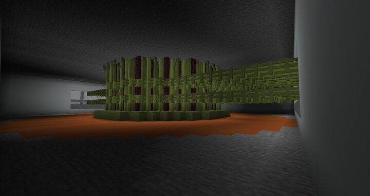 between the upper side of the reactor and underside of the reactor hall