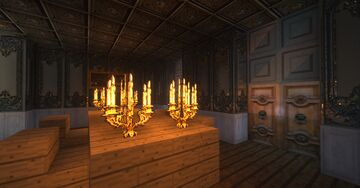 French Baroque Archtecture with Shaders. Minecraft Map & Project
