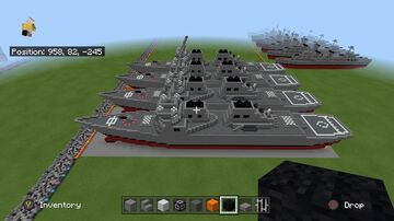 Arleigh Burke flight 1,2,2a and 3 1:1 scale Minecraft Map & Project