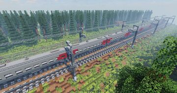 Forest Railway Minecraft Map & Project
