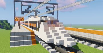 T-20 | Train 20 | Contemporary High Speed Train Minecraft Map & Project