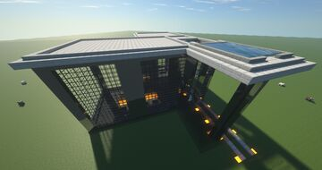 Modern Luxus Villa with pool on the roof Minecraft Map & Project
