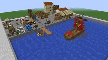 Aqueor Navalis - a Roman Trading Port Minecraft Map & Project
