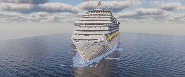 Costa Concordia 1:25/1 Full Interior! (NEW VERSION COMING, CHECK MY PAGE) Minecraft Map & Project