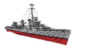 DD-445 USS Fletcher | Fletcher-class destroyer (Needs Redo) Minecraft Map & Project
