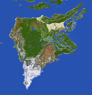 Paralon Continent #2 - Veridis (15k x 14k) Minecraft Map & Project
