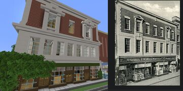 1930s shop front with inspiration pic Minecraft Map & Project