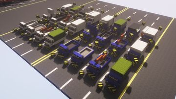 Small truck (2 colors, 24 sets) Minecraft Map & Project
