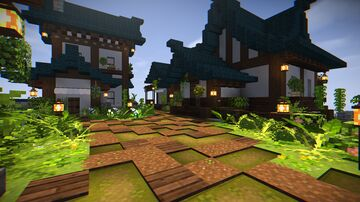 Japanese _ esque Village Minecraft Map & Project