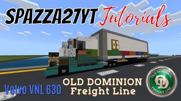 Volvo VNL 630 Old Dominion Freight Line Minecraft Map & Project