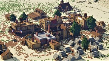 Wild West Railroad Town [Fully Decorated] - Utah Territory 1886 Minecraft Map & Project
