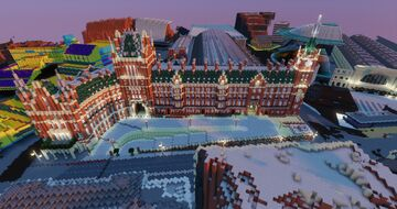 St Pancras International Station | JOIN OUR PROJECT! | London 1:1 Minecraft Map & Project